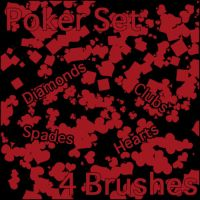 Poker Brushes by Thy-Penguin
