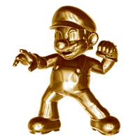 Metal (gold) Mario 3/4 by Nibroc-Rock