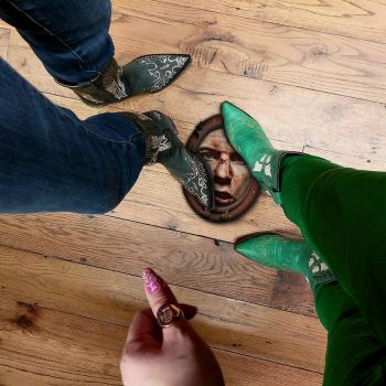 Cowgirls Boot Mat by paapaacollages
