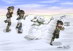The Legend of Korra: Snowbending by alisagirard