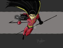 robin digital painting step 4 by marty0x