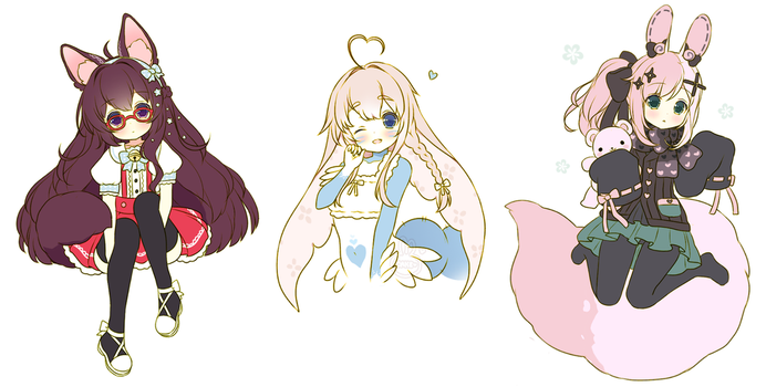 = Sketch Commission Batch 1 = by CakexChan