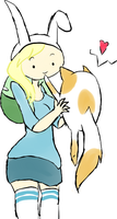 Fionna And Cake :D by xXimmaeatjooXx