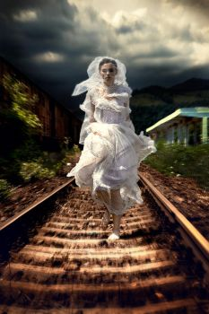 Runaway Bride by idaniphotography