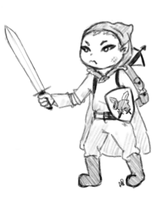 elf halfling character thing for some redditor by Alisha-town