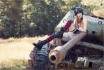 In 2033, justice rides a tank and wears lip gloss. by Alessa-Ghoulish