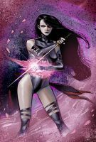 Psylocke fanart by Wilustra