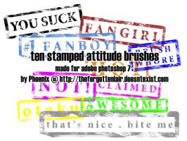 Stamped Attitude Brushes by Red-Eclipse
