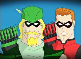 Green Arrow and Red Arrow by DraganD