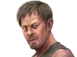 Daryl Dixon closeup by chronicdoodler