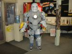 Paper Mache Iron Man Costume by steveclaus