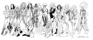 80 'S DC  girls by sobad-jee