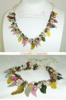 Leaves and Berry Necklace by CrysallisCreations