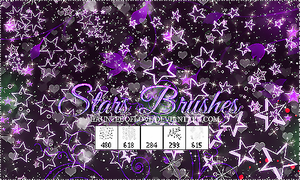 +.StarsBrushes by HauntedOfLove