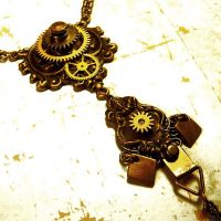 Epic Steampunk Tiered Necklace by Om-Society