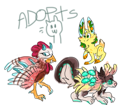 - ADOPTABLES - (25 - 100p) by Magikitty