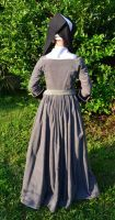 Grey Tudor Gown and Hood5 by CenturiesSewing