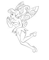 Ariel as Tinkerbell - Lineart by Paola-Tosca