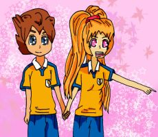 Ai and Tenma - Request from AnimeGirlTerra by Mizuka-san