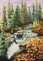 ACEO Waterfall #3 by annieoakley64