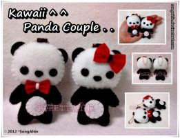 Kawaii Panda Couple.. by SongAhIn