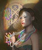 Queen of Beads by FractalBee