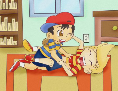 Ness and Lucas by BoxerBoxy
