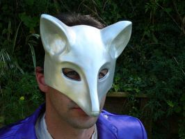 Chrome Fox Mask by BlueHyena