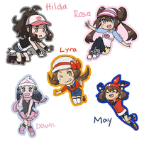 PokeGirls Stickers by tachii