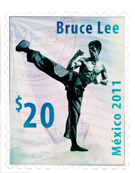 Bruce Lee Postage stamp by LanzCecilio