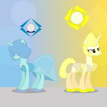 Homeworld Gems - Blue and Yellow Pearl by Trail-Grazer