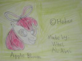 A drawing for Apple Bloom by Wael-sa