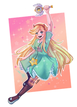 Star Butterfly + [SpeedPaint] by LuciLorenzo