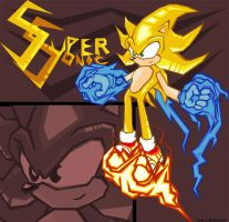 Super Sonic  battle style by woodduckprime