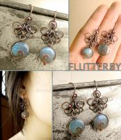 Flutter By Butterfly Earrings by popnicute