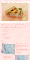 Miniature cupcake and cupcake box TUTORIAL by KawaiiPetitPois