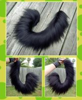24 inch Black posable yarn tail commission by Black-Heart-Always