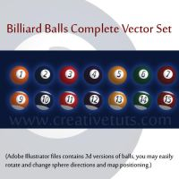 Complete Billiard Balls Set by creativetuts