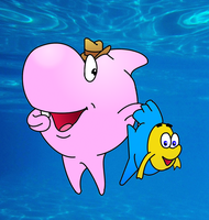 Sharky and george (redrawn) by cornishmouse
