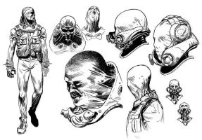 Hellboy 2 Original concept art by SergioSandoval