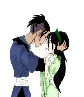 Sokka and Toph first kiss by rotten-jelly-babie