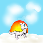 Arctic Wolf Drawing by kitten226