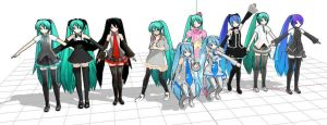 Some of the PD miku model by 913901622