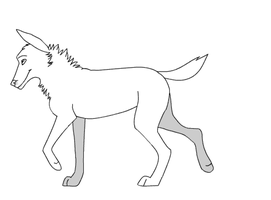 Walking Wolf Lines ANIMATION by Trooper18