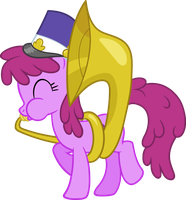 Berry Punch Playing The Tuba Vector by scrimpeh