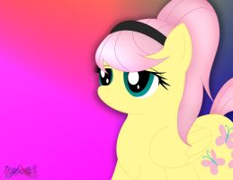 Fluttershy With A Ponytail by IFlySNA94