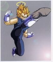 Vegeta Super Saiyan Coloured by Barbicanboy