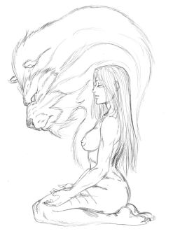 Ayla and the Cave Lion Spirit by jondalar137