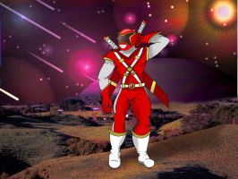 Custom made Red Ranger by LargerYeti