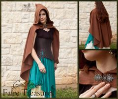 Brown Fleece Rogue Cape by CrystalKittyCat
